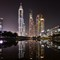 Dubai Media City: Dubai Media City at night