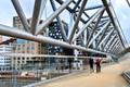 oslo pedestrian bridge, walkway level