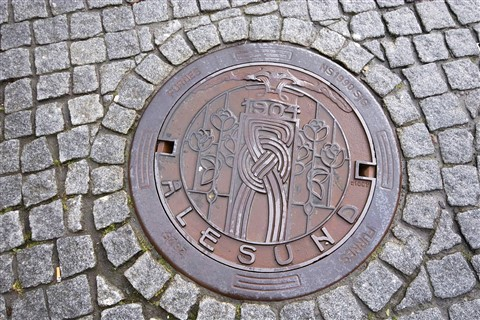 Manhole Cover in Alesund.