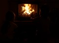 By the fire