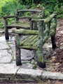 mossed bench