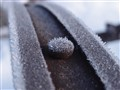 Frost on an iron wheel