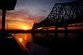 Cruise into New Orleans at sunrise