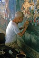 Redecorating the temple, Bangkok