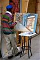 Painter in Barcelona