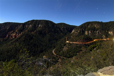 Oak Creek Canyon by Moonlight