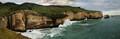Tunnel Beach cliffs panorama