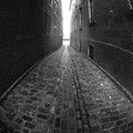 An alley in Old Montreal, QC, Canada