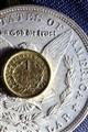 1904 O Unc Silver Dollar + 1853 Gold Dollar 8x12