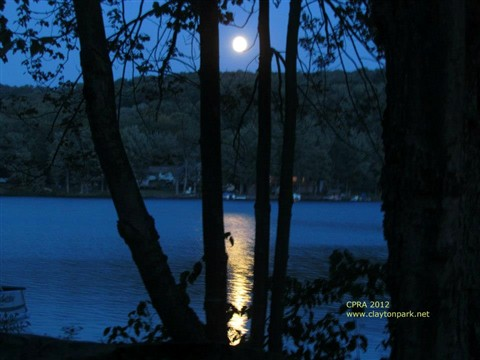 Blue Moon over Lake Henry