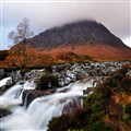Buachaille Etive Mor with waterfall, Glencoe