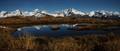 Darran Mountains in tarn panorama
