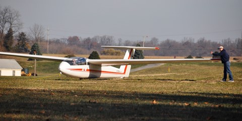 Blanik takeoff