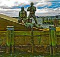 Rescue Squad Sculpture NY Harbor