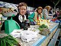 Russian little town farmer market